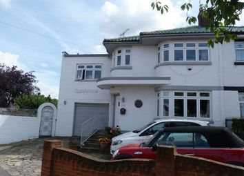 Thumbnail 4 bed semi-detached house for sale in Herent Drive, Clayhall