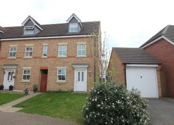 Thumbnail 3 bedroom town house for sale in Brindley Close, Stoney Stanton, Leicester