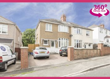 Thumbnail 3 bed semi-detached house for sale in Brynglas Road, Newport