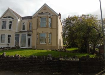 Thumbnail 4 bed semi-detached house for sale in Station Road, Glais, Swansea