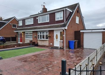 Thumbnail 3 bed semi-detached house for sale in Leesway Drive, Denton, Manchester