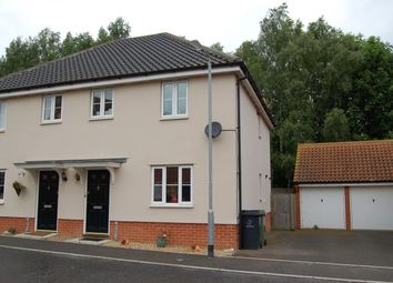 Thumbnail 3 bed semi-detached house to rent in Betjeman Close, Thetford, Norfolk