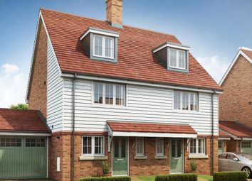 Thumbnail 3 bed semi-detached house for sale in Orchard View, Vicarage Road, Yalding, Kent