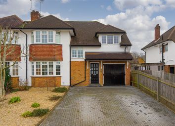 Thumbnail 4 bed semi-detached house for sale in Severn Drive, Esher