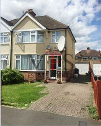 Thumbnail 3 bed semi-detached house for sale in Iverna Gardens, Bedfont