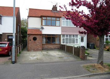 Thumbnail 3 bed semi-detached house for sale in Burgh Road, Gorleston, Great Yarmouth