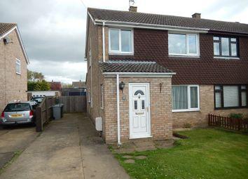 Thumbnail 3 bed semi-detached house for sale in Deer Park Road, Langtoft, Peterborough