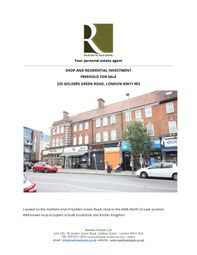 Thumbnail Block of flats for sale in Golders Green Road, Golders Green