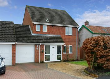 Thumbnail 4 bed link-detached house for sale in Hargham Road, Attleborough