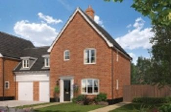 Thumbnail 3 bed link-detached house for sale in Oakley Park, Mulbarton, Norfolk