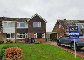 Thumbnail 3 bed semi-detached house for sale in Henhurst Ridge, Burton-On-Trent, Staffordshire