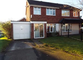 Thumbnail 3 bed semi-detached house for sale in Foxhill Close, Staffordshire, Cannock