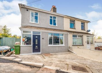 Thumbnail 3 bed semi-detached house for sale in Park Crescent, Oreston, Plymouth