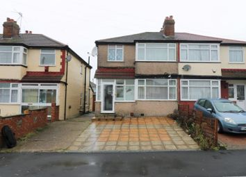 Thumbnail 3 bed semi-detached house to rent in Wood End Way, Northolt, Middlesex