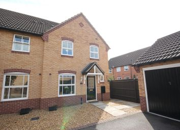 Thumbnail 3 bed semi-detached house for sale in Wye Close, Hilton, Derby