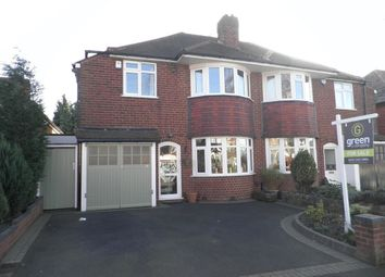 Thumbnail 3 bedroom semi-detached house for sale in Orton Avenue, Walmley, Sutton Coldfield