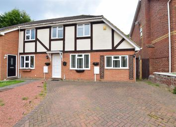 Thumbnail 3 bed semi-detached house for sale in Rosemount Court, Rochester, Kent