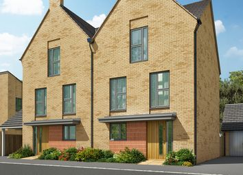 "Thumbnail 3 bed terraced house for sale in ""The Foxton"" at Heron Road, Northstowe, Cambridge"