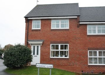 Thumbnail 3 bed semi-detached house to rent in Pickering Close, Stoney Stanton