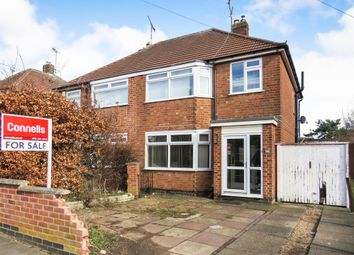 Thumbnail 3 bed semi-detached house for sale in Chestnut Avenue, Leicester