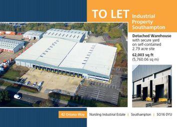 Thumbnail Warehouse to let in 42 Oriana Way, Nursling Estate, Southampton, Hampshire