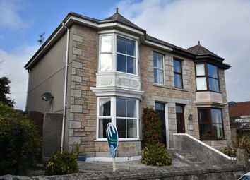 Thumbnail 4 bed semi-detached house for sale in Trelawney Road, Camborne