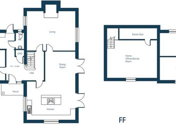 Thumbnail 5 bedroom detached house for sale in Barrows Hole Lane, Little Dunham, King's Lynn
