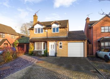 Thumbnail 4 bed detached house for sale in Sleaford Close, Grange Park, Swindon