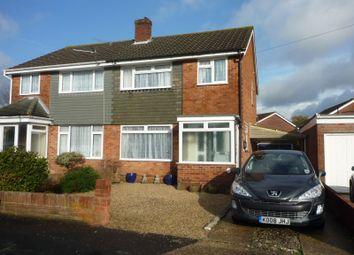 Thumbnail 3 bed semi-detached house to rent in Benham Grove, Portchester, Fareham