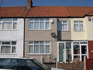 Thumbnail 3 bed terraced house to rent in Abbotts Road, Mitcham CR4, London,