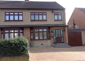 Thumbnail 3 bedroom semi-detached house for sale in Sackville Cres, Romford, Essex