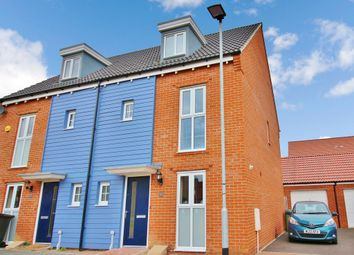 Thumbnail 3 bedroom semi-detached house for sale in Knappers Way, Costessey, Norwich