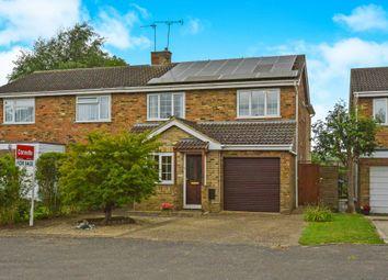 Thumbnail 4 bed semi-detached house for sale in Meadoway, Steeple Claydon, Buckingham