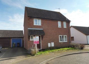 Thumbnail 3 bed link-detached house for sale in Ives Close, Diss