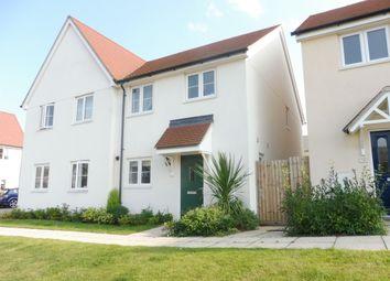 Thumbnail 3 bed semi-detached house for sale in Avey Walk, Stanton, Bury St. Edmunds