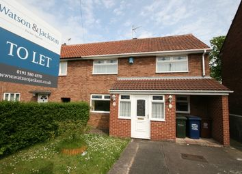 Thumbnail 3 bed end terrace house to rent in Kirkwood Drive, Kenton, Newcastle Upon Tyne