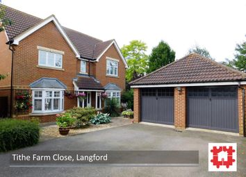 Thumbnail 4 bed detached house for sale in Tithe Farm Close, Langford, Beds