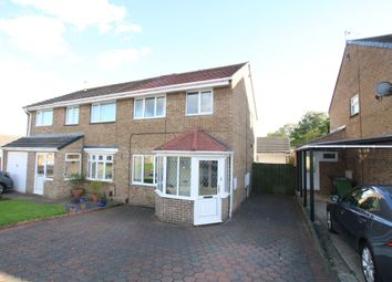 Thumbnail 3 bed semi-detached house for sale in Prestwick Close, Washington