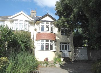 Thumbnail 4 bed semi-detached house to rent in Old Torwood Road, Torquay