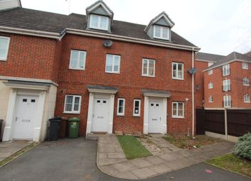 Thumbnail 4 bed town house to rent in Woodcutter Close, Walsall