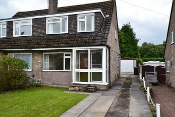 Thumbnail 2 bed semi-detached house to rent in Fitz Crescent, Macclesfield, Cheshire