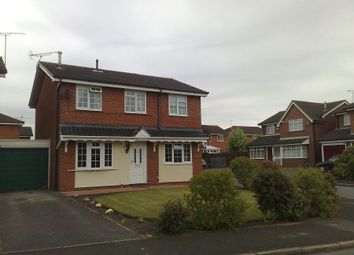 Thumbnail 4 bed detached house to rent in Sedgemere Avenue, Crewe, Cheshire