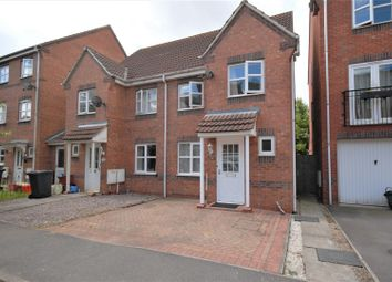 Thumbnail 3 bed town house for sale in Brouder Close, Coalville