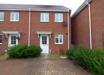 Thumbnail 2 bed end terrace house to rent in Grantham Avenue, Great Cornard, Sudbury