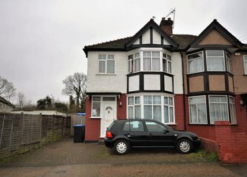 Thumbnail 3 bedroom end terrace house to rent in Elton Avenue, Wembley, Middlesex