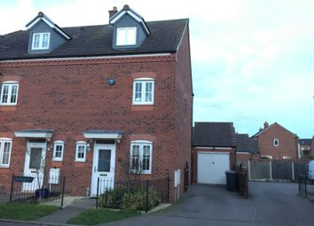 Thumbnail 3 bed town house to rent in Broadbent Close, Lichfield