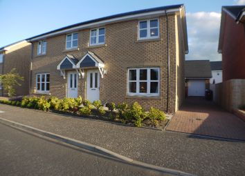 Thumbnail 3 bed semi-detached house for sale in Willowburn Avenue, New Stevenston, North Lanarkshire