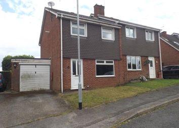 Thumbnail 3 bed semi-detached house for sale in Bodmin Avenue, Hucknall, Nottingham, Nottinghamshire