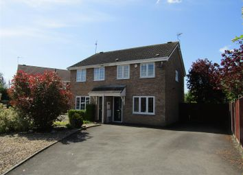Thumbnail 3 bed semi-detached house for sale in Campion Close, Narborough, Leicester