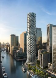 Thumbnail 1 bed flat for sale in One Park Drive, Canary Wharf, London